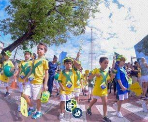 Children parade in honor of September 7
